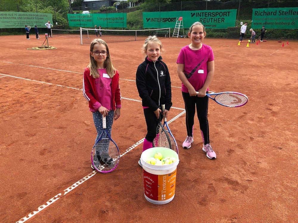 Schnuppertraining für Kinder beim Tennis Club Grün Weiss Hennef