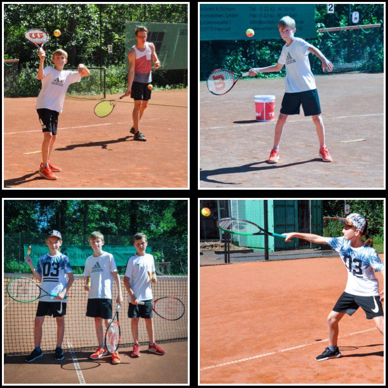 Kindertraining beim Tennisclub GW Hennef