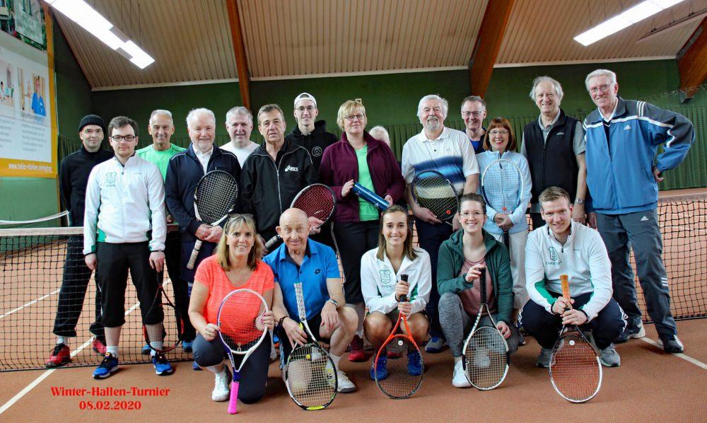 Winter-Hallen-Turnier - Tennisclub Grün-Weiss Hennef Gruppenfoto